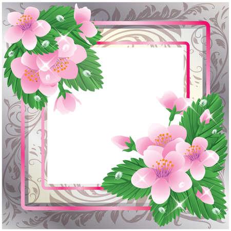 Bloemenlijst in stijl scrapbookingateliers