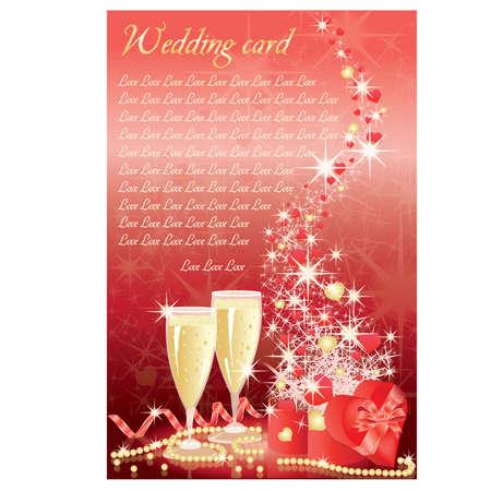 Wedding invitation card Stock Vector - 9041299