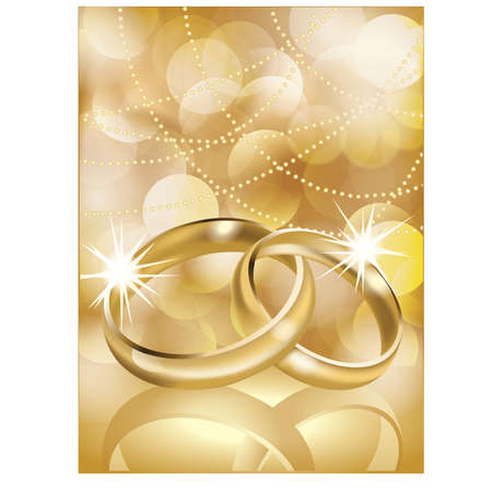 matrimony: Golden wedding rings