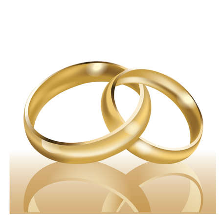 Wedding rings, symbol of marriage and eternal love Stock Vector - 9041302