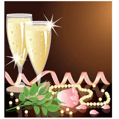 Love invitation card Stock Vector - 9041324