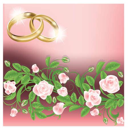 Wedding invitation card Stock Vector - 9041333