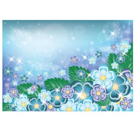 blase: Floral banner, vector illustration