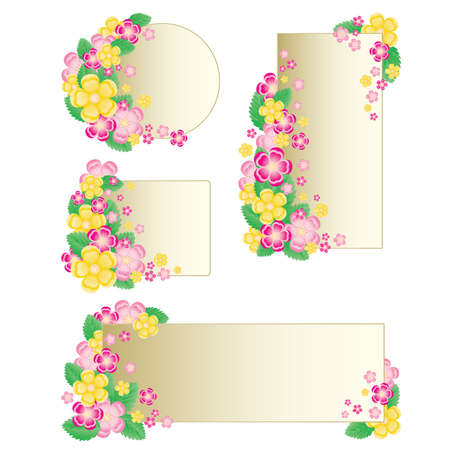 Set floral banners. vector illustration