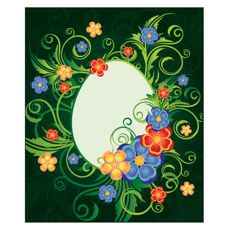 Easter card with egg-frame, vector illustration Vector