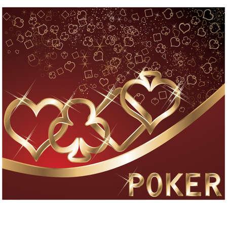 Poker banner, vector illustration Vector