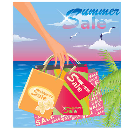 holiday shopping: Summer sale Illustration