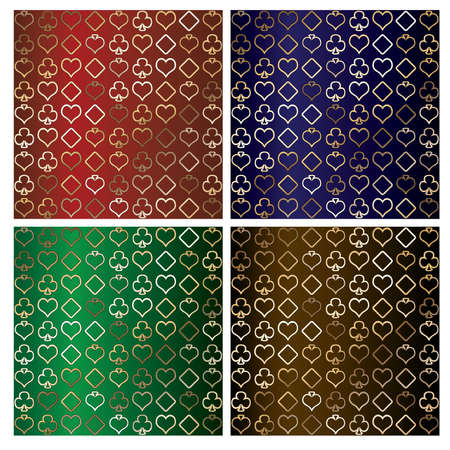 ace of diamonds: Set poker backgrounds, vector illustration
