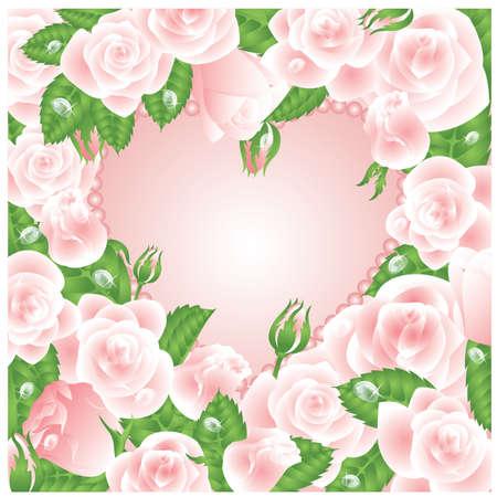 Beautiful Love card, vector illustration Vector