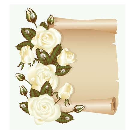 heiraten: Hochzeit Grußkarte, vector illustration