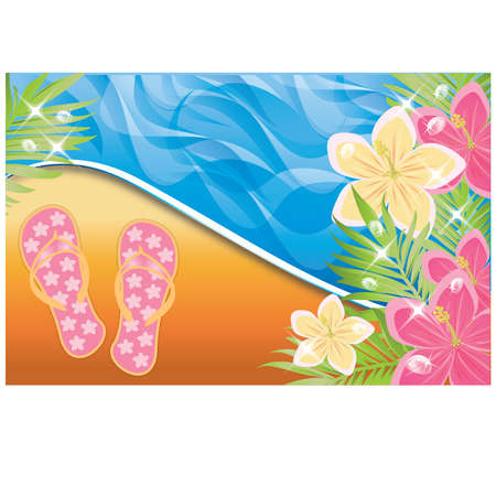Summer time banner Stock Vector - 9407295