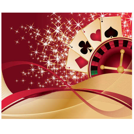 gambler: Gambling Poker background, vector illustration