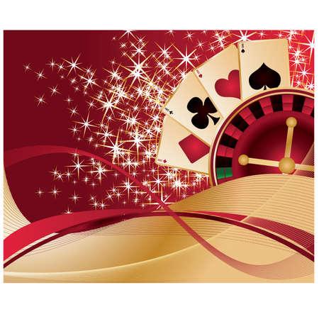 Juego de fondo de Poker, vector de ilustraci�n