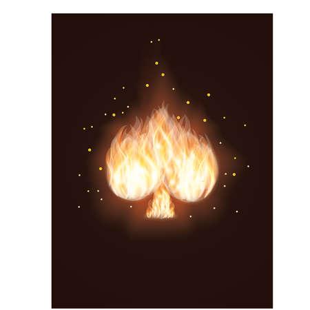 Spades Card in Fire. vector illustration Vector