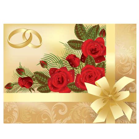 Wedding invitation card, vector illustration Vector