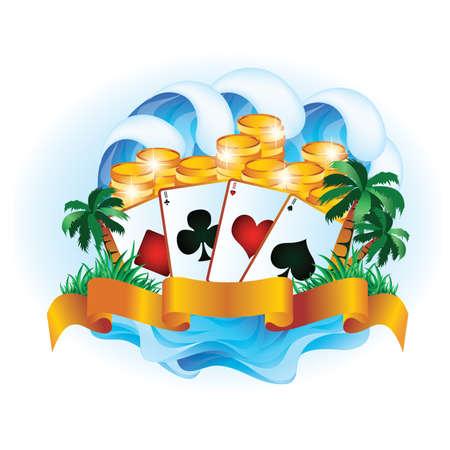 Tropical poker. Stock Vector - 9629298