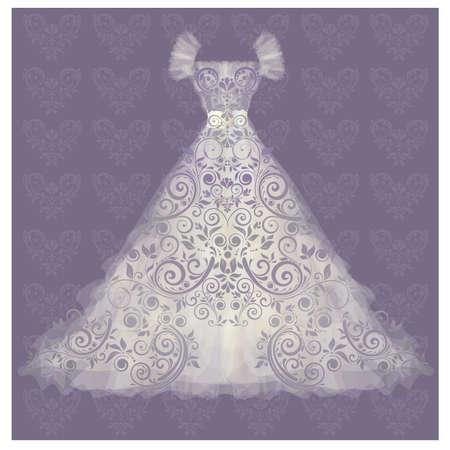 Wedding dress. vector illustration Vector
