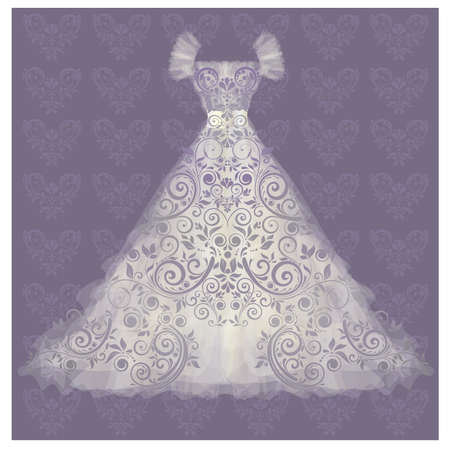 Wedding dress. vector illustration