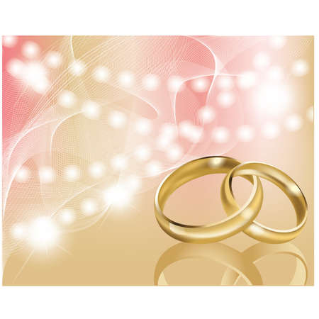 Two wedding ring with abstract background Stock Vector - 9716772