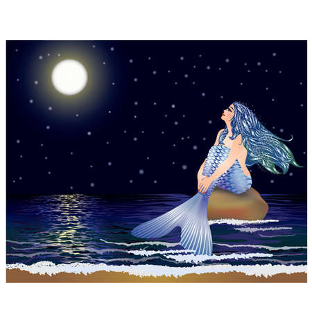mythical: Night mermaid