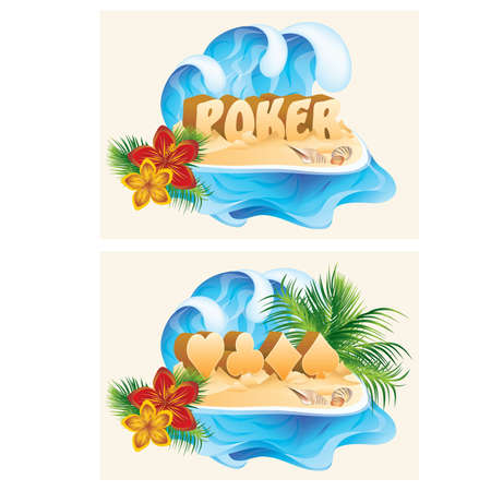 Tropical poker banners Stock Vector - 9804528