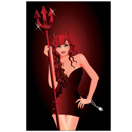 Sexy she-devil Stock Vector - 9804539