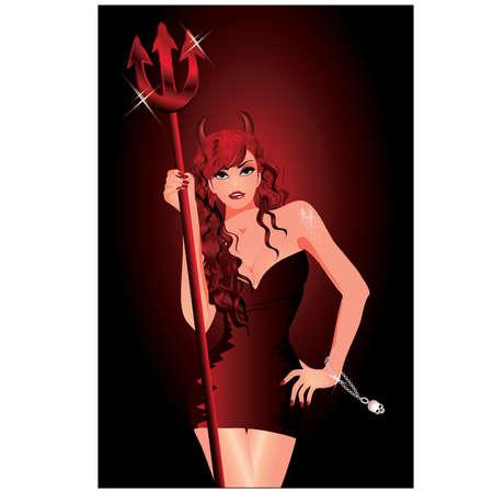 Sexy she-devil Stock Vector - 9804539