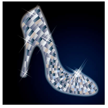 wealth abstract: Beautiful Diamond shoes, illustration