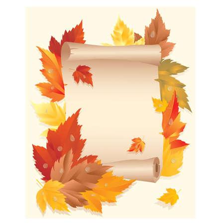 Autumn card, illustration Stock Vector - 9913667