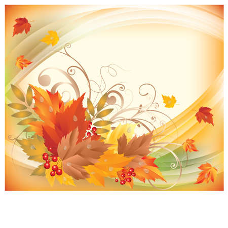 Autumn background, illustration Vector