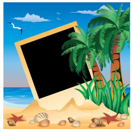 Tropical Photo frame Vector