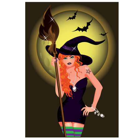 Sexy witch. vector illustration Vector