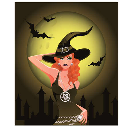 erotic fantasy: Sexy Halloween Witch girl
