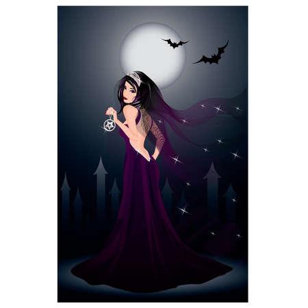 Sexy black bride Stock Vector - 10278140