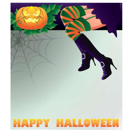 Happy Halloween background, vector illustration Stock Vector - 10299696