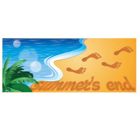 Summers end banner Stock Vector - 10337986