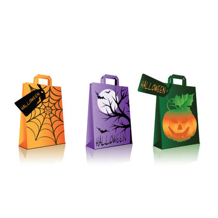 bewitched: Halloween shopping bags