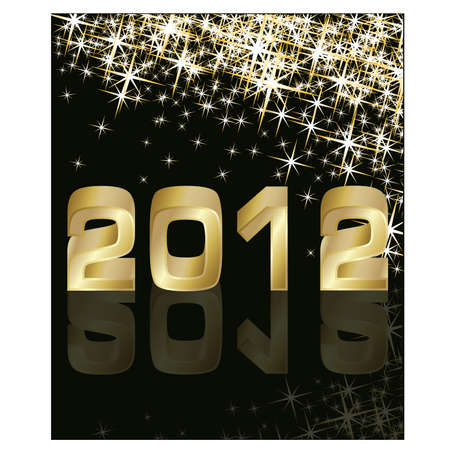 midnight time: New Year 2012 Illustration