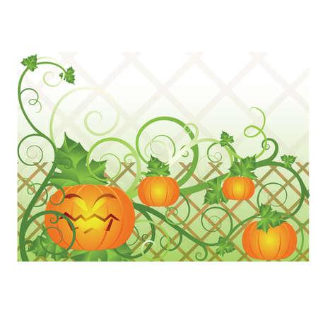 Halloween banner with pumpkin illustration Stock Vector - 10681473