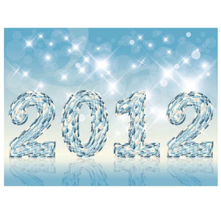 2012 diamond hew year, vector illustration Stock Vector - 10742963