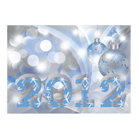 New 2012 year greeting card Stock Vector - 10837201