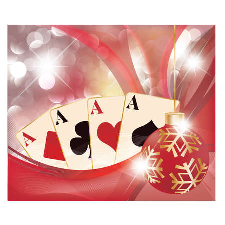 Christmas casino background Vector
