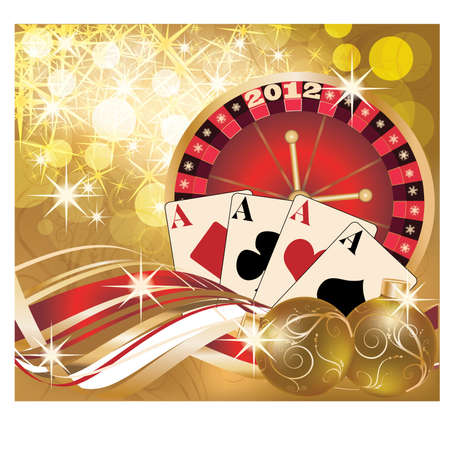 New 2012 year casino banner Stock Vector - 10837194