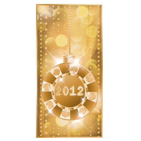 Poker chip 2012 new year , vector Stock Vector - 10837195