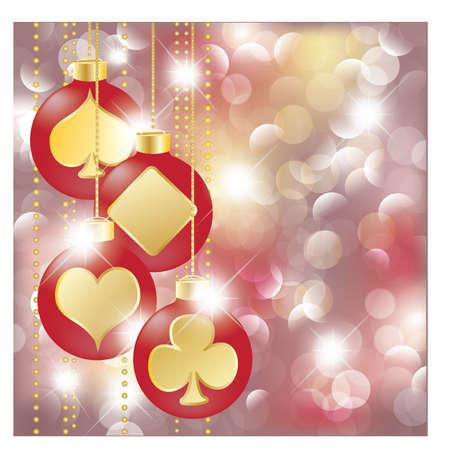 Christmas poker banner Vector