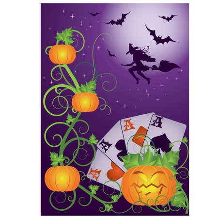 bewitched: Halloween poker banner
