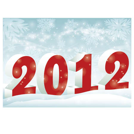 New 2012 Year banner Vector