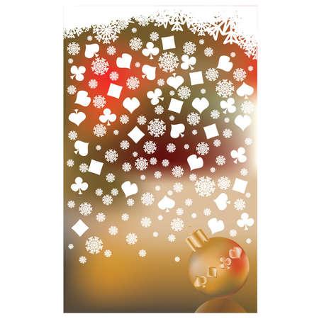 Casino christmas background, vector illustration Stock Vector - 11250368