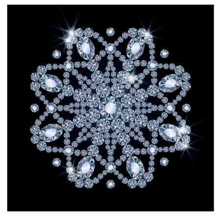 Diamant Schnee, Vektor-Illustration