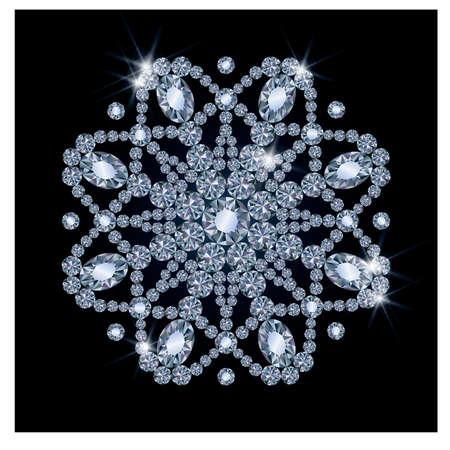 Diamant sneeuw, vector illustratie